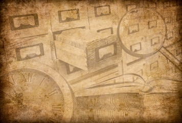 Wall Mural - Archive or museum grunge background