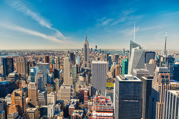 Fototapete - Manhattan aerial view