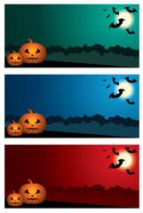 Three Halloween banners. vector, EPS10