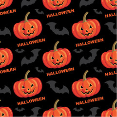 Seamless halloween pattern. vector illustration