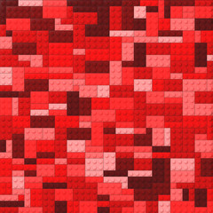 Toy bricks color background - red