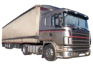 European 18-wheeler with canvas trailer