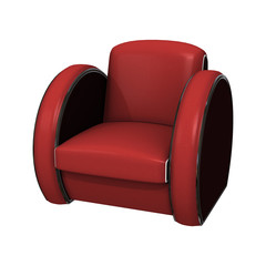 Red Chair on White