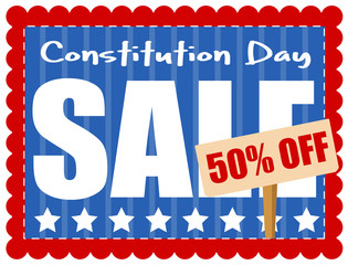 Sale Coupon - Constitution Day Vector Illustration