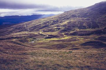 Beautiful mountain landscape in Scotland