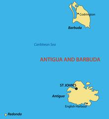 Antigua and Barbuda - vector map