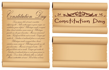 scroll banner designs for - Constitution Day Vector Illustration