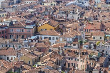 Panoramic views of Venice from Campanile di San Marco. Venice