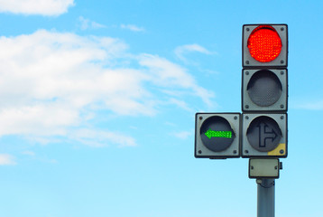 Fotomurales - traffic lights against the sky