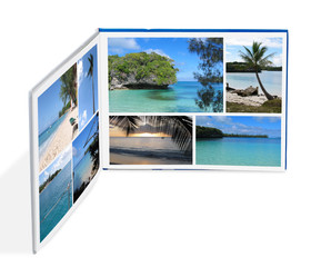 Photobook with Photos of Beach Scenes