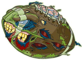 Zombie Football Vector Cartoon