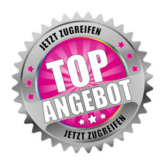 Bügel Button Magenta Top Angebot