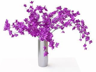 Violet Flowers in Vase