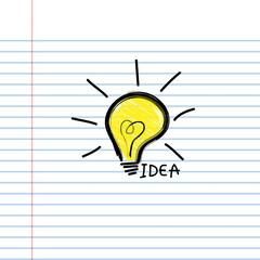 Pattern book light idea vector illustration