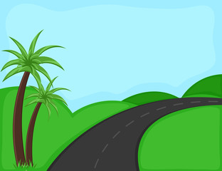 road - Cartoon Background Vector