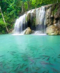 Marron chocolat Erawan Waterfall, Kanchanaburi, Thailand