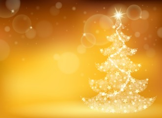 Christmas tree topic background 3