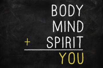 You, body, mind, soul, spirit