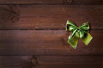 Weihnachtskarte mit Schleife