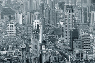Shanghai in black and white