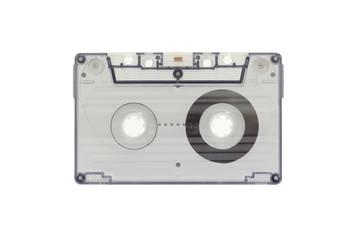 The blue transparent cassette tape