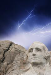 Wall Mural - Storm above Mount Rushmore - South Dakota