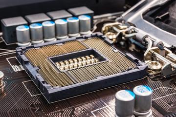 Computer main processor socket