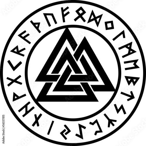 Valknut Runen Kreis Odin Symbol Dreieinigkeit