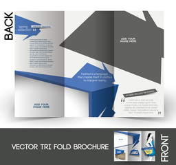 Tri-Fold Fashion Store Front Mock up & Brochure Design