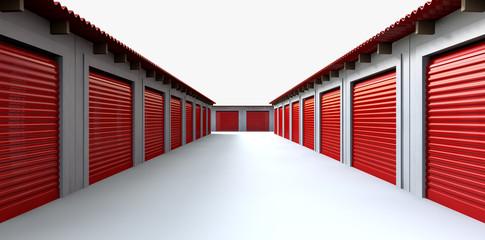 Storage Lockers Perspective Wall mural