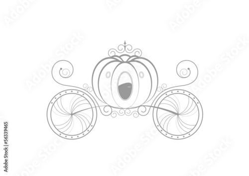 Carrosse de princesse sticker gris fichier vectoriel libre de droits sur la banque d 39 images - Carrosse de princesse ...