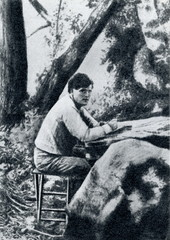 Jack London working (Walley of the Moon, 1905)
