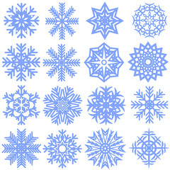 Collection of snowflakes. Vector