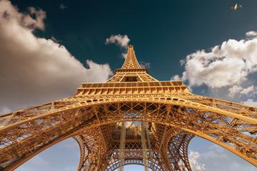 Beautiful view of Eiffel Tower in Paris