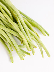 Chinese long beans in vertical composition