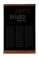 Empty people stopper (banner) isolated on white