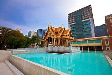 The beautiful of Royal Thai Pavilion in Siriraj Hospital, Bangko
