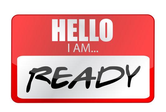 Hello I am ready tags. Illustration
