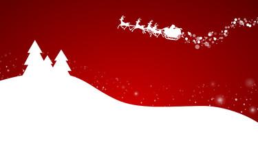Weihnachtskarte Rentiere Wald