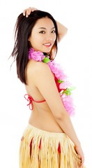 Attractive asian girl 20 years old shot in studio