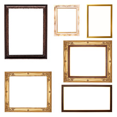 Set of  frame isolated on white