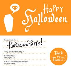 Halloween party invitation design template