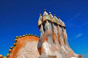 Casa Batllo, chimneys on the roof