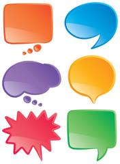 Speech bubbles color