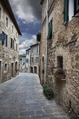 Wall Mural - Ancient alleyway (Montalcino. Tuscany, Italy)