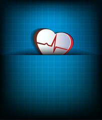 Abstract heart beat concept, cardiogram.