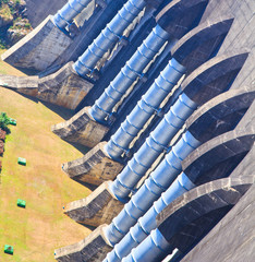 The power station at Srinagarind Dam in Thailand