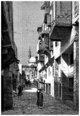 Traditional Arabian City : a Street - 19th century