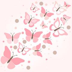 butterflies - illustration, vector