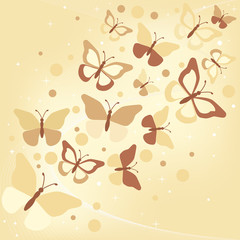 butterflies - illustration, vector